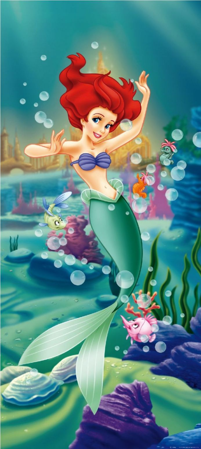 Disney Princess Mermaid Premium wall murals | Buy it now